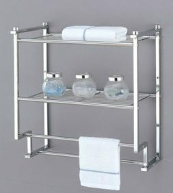 Organize It All 16988 2 Tier Wall Mounting Rack with Towel B
