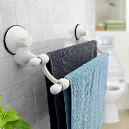 18.5'' Double Bars Suction Cup Towels Rail Holder Storage Ra
