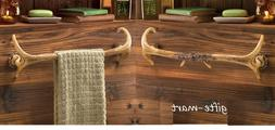 2 Deer antler Lodge rustic kitchen Bathroom bath towel holde