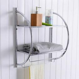 Costway 2 Tier Wall Mount Shower Organizer Toilet Bathroom S