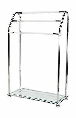 Organize It All 3 Bar Bathroom Towel Drying Rack & Holder wi