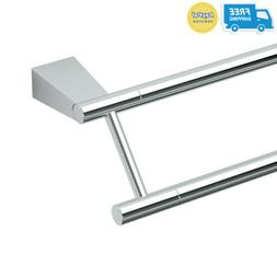 "Gatco 4714 Bleu 24"" Double Towel Bar, Chrome"