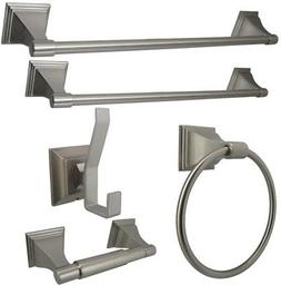 Kingston Brass 5-Piece Bathroom Accessory Set in Satin Nicke