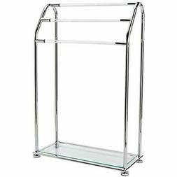 Organize It All 62443 Acrylic 3 Bar Towel Rack with Bottom S