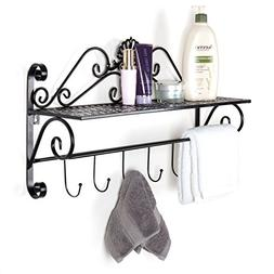 Beautiful Black Metal Decorative Wall Mounted Storage Shelf