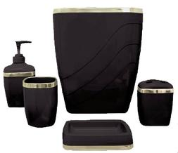 Carnation Home Fashions 5-Piece Plastic Bath Accessory Set,