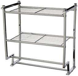 Organize It All Chrome 2 Tier Wall Mounting Bathroom Rack wi