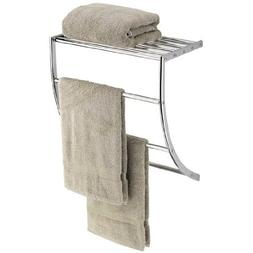 Organize It All Neu Home Curved Towel with Shelf