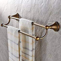 Leyden Antique Bathroom Accessories Brass Double Towel Bar H