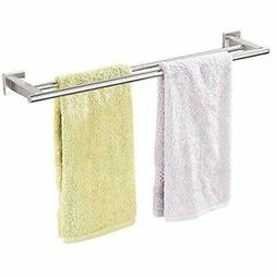 Bathroom Double Towel Bar Brushed SUS 304 Stainless Steel Ba
