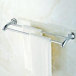 Alise Bathroom Double Towel Bar 24-Inch Length Wall Mount,St