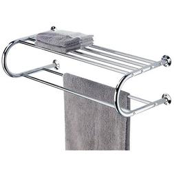 bath rack double towel bar wall mount