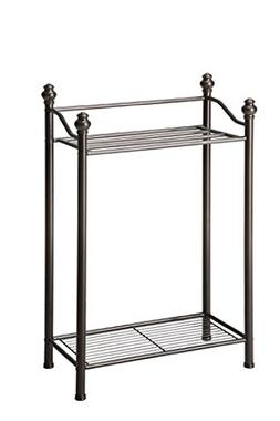 Organize It All Free Standing Bathroom Towel Storage Rack wi