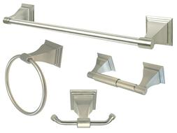 Brushed Nickel Bath Accessories Set Bath Accessories Towel B