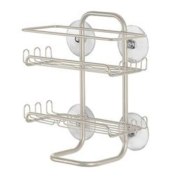 InterDesign Classico Suction Bathroom Shower Caddy Shelves f