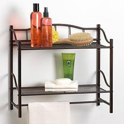 Creative Bath Products Complete Collection 2 Shelf Wall Orga