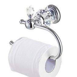 Kabter Crystal Series Brass Toilet Paper Roll Holder, Polish