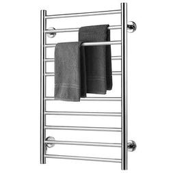 Electric Towel Rail Rack 10-bar Rung Heated Bathroom Warmer