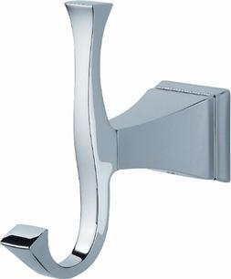 Delta Faucet 128885 Dryden Double Robe Hook, Polished Chrome