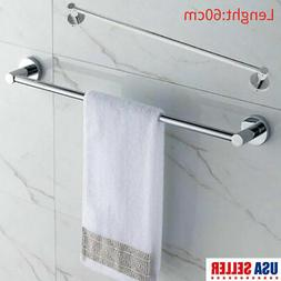 Foldable Stainless Steel Towel Rack Bar Rail Wall Mount Bath