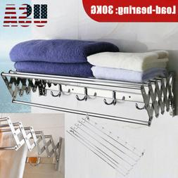 foldable stainless steel towel rack bar wall