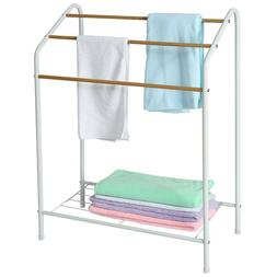 Free Standing Bathroom Towel Rack Metal Towel Bar Stand Towe