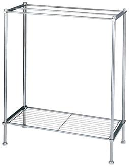 Organize It All Freestanding 3 Bar Chrome Bathroom Towel Rac