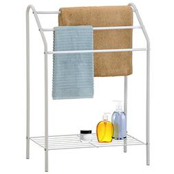 Freestanding 3 Tier Metal Towel Rack, Chrome Bathroom Towel