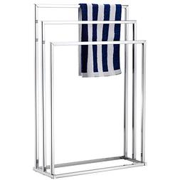 MyGift Freestanding Towel Rack, 3 Tier Metal Towel Bar Stand
