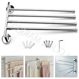 TOWEL HOLDER 4 Stainless Steel Swivel Bars Rail Hanger Bathr