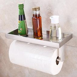 Kitchen Paper Towel Holder with Storage Shelf, Angle Simple