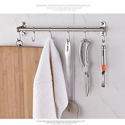 Wall Mount Hanging Kitchen Rack , Stainless Steel Pot Storag