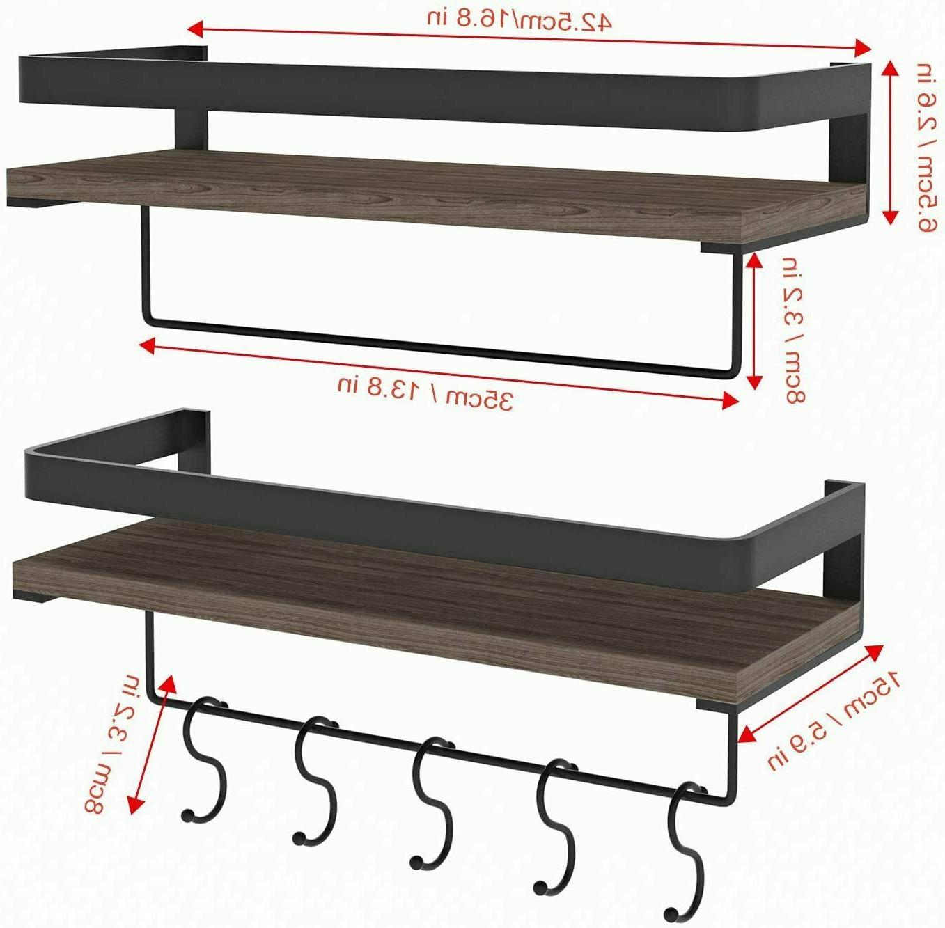 16.5inch Shelves Mounted with Rail Towel Bar