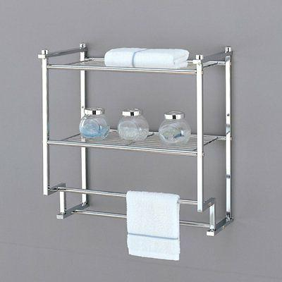Organize It All 16988W-1 2 Tier Wall Mounted Rack with Towel