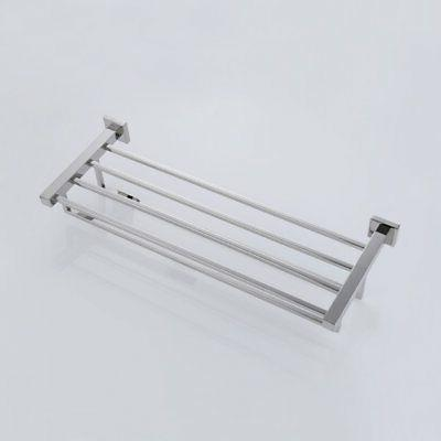 KES Towel Rack with Stainless Steel Double Bar Hanger