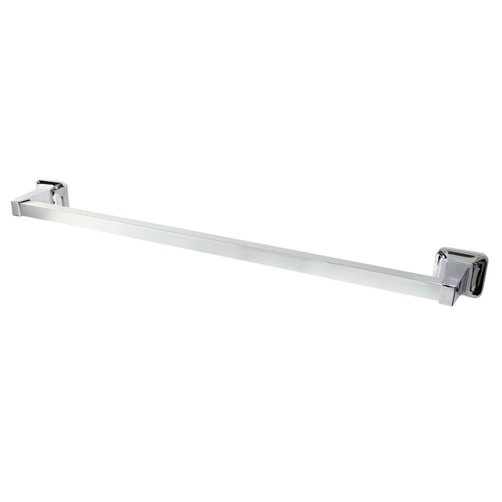towel bar polished chrome 24 wall mounted