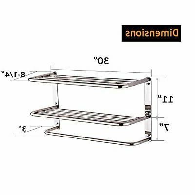 30 Shelf 3-Tier with Bars, Extra Long