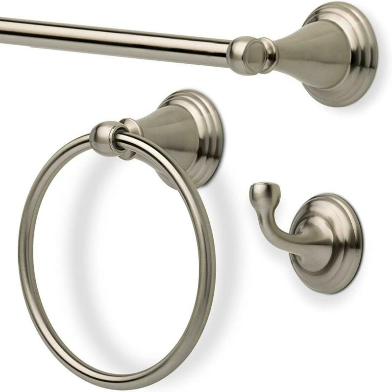 "Delta Faucet 24"" Towel Bar, Brushed, Nickel"