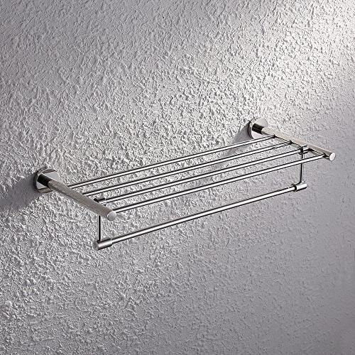 KES Towel Rack with Towel 24-Inch SUS Stainless Steel RUSTPROOF Wall Mount Finish,