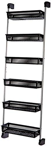 Neu Home Over the Door 6-Basket Hanging Storage Unit with Ho