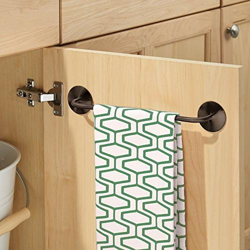 "InterDesign AFFIXX, Peel-and-Stick Self-Adhesive Steel Towel Holder Kitchen Bathroom - 13"","