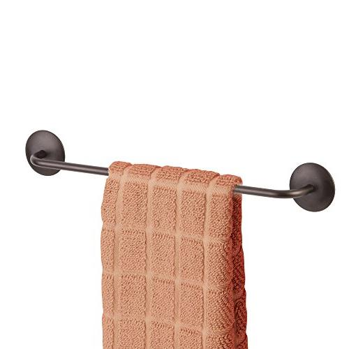 "InterDesign Self-Adhesive – Steel Towel Holder for Kitchen or - 13"", Bronze"