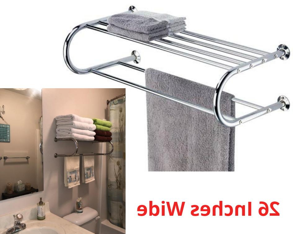 bathroom bath towel rack with double towel