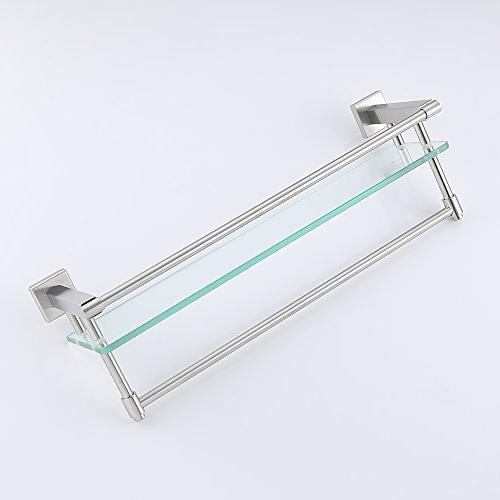 KES Stainless Bathroom Glass Mount with and A2225DG-2