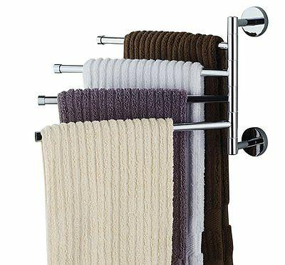 Bathroom Towel Bar Rack Holder Shelf Set Stand Accessories B