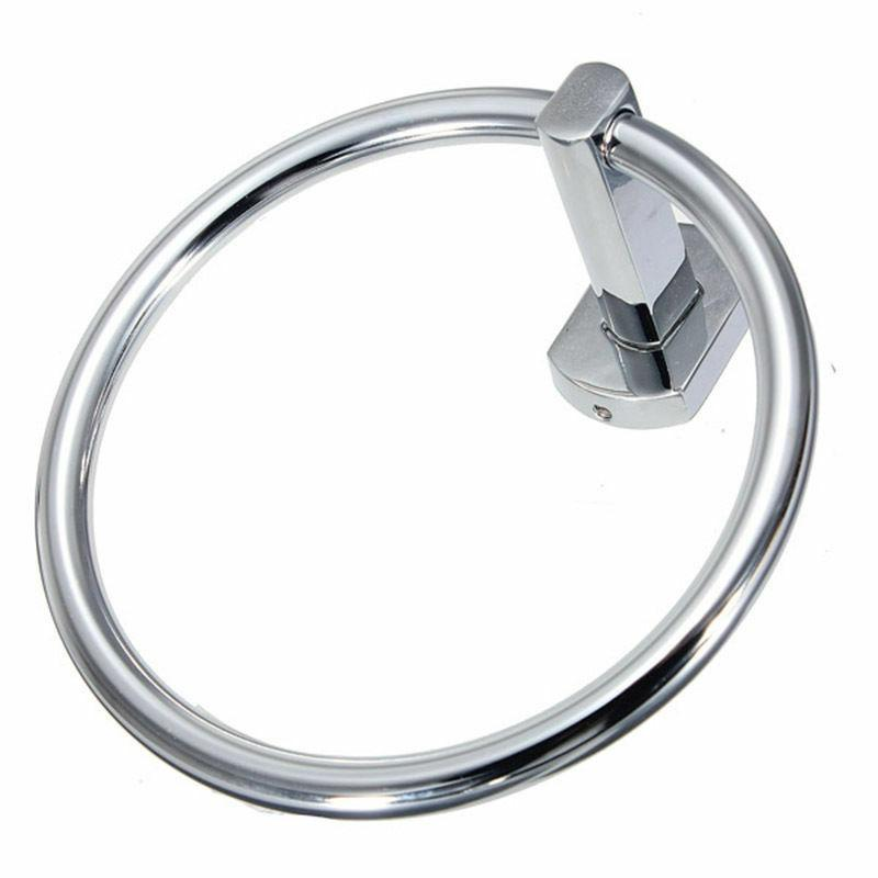 Chrome Towel Ring Wall Holder Bath Accessories