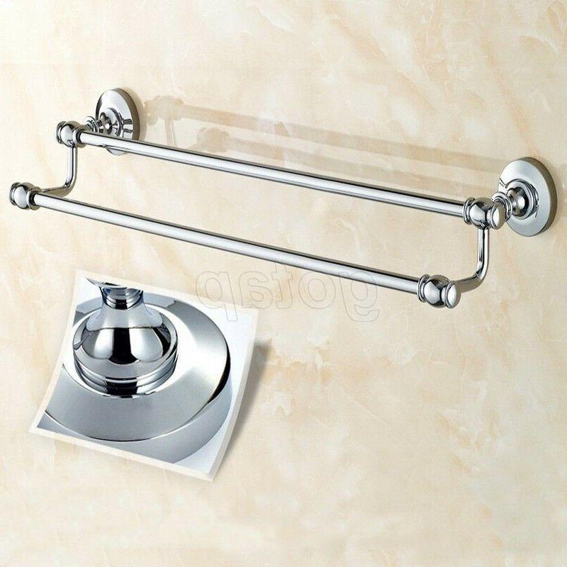 Chrome Bath Double Towel Holder