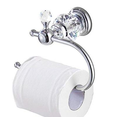 crystal series brass toilet paper roll holder