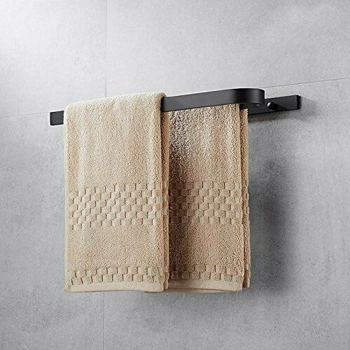 Double Towel Inch Holder Aluminum Wall Shelf