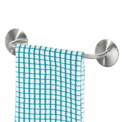 mDesign AFFIXX, Peel-and-Stick Adhesive Towel Bar Holder for